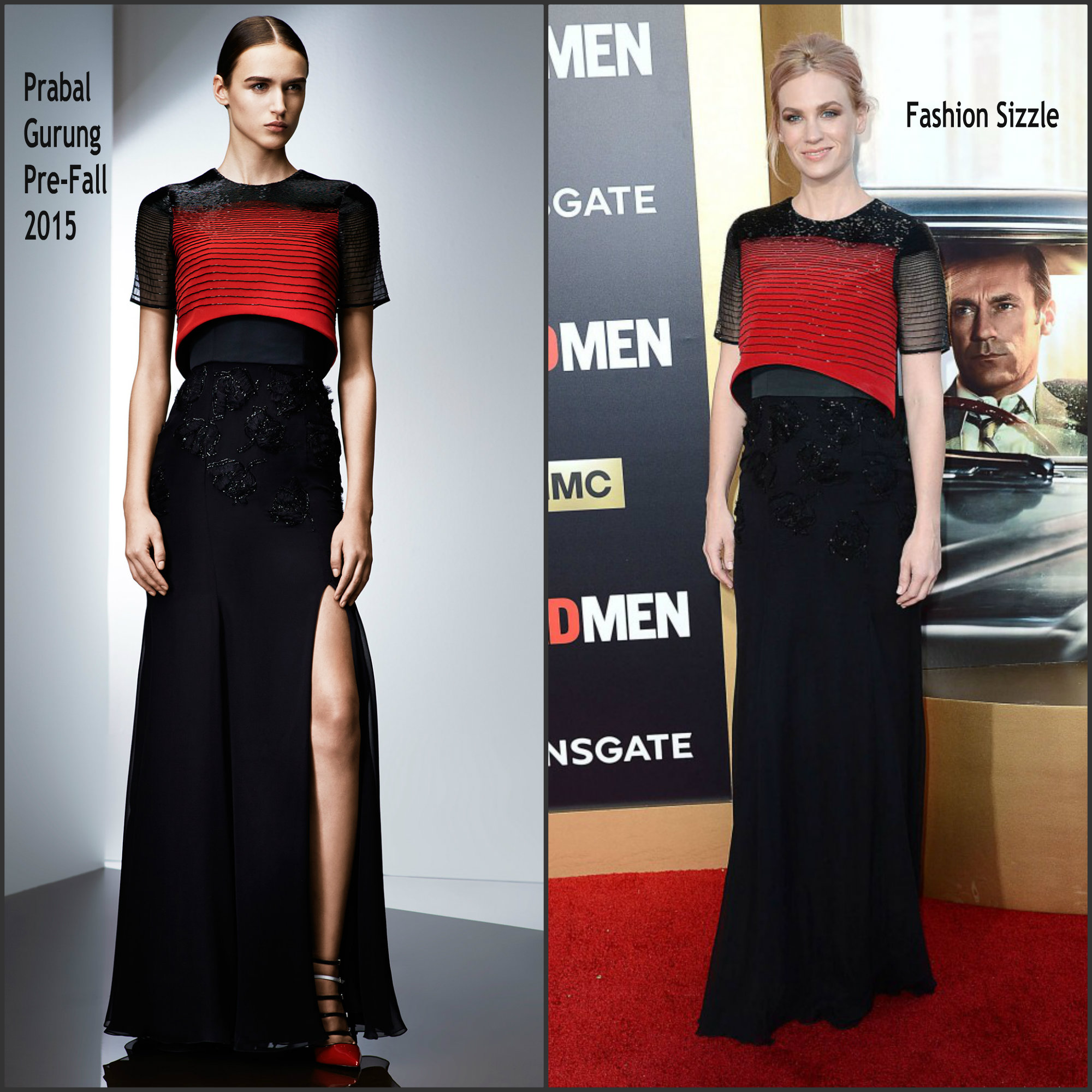 January-Jones-In-Prabal-Gurung-at-Mad-Men-Black-&-Red-Ball
