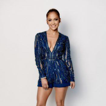 Jennifer-Lopezs-American-Idol-Elie-Saab-Navy-Blue-Embellished-Romper-and-Casadei-Pumps-668×1000-1