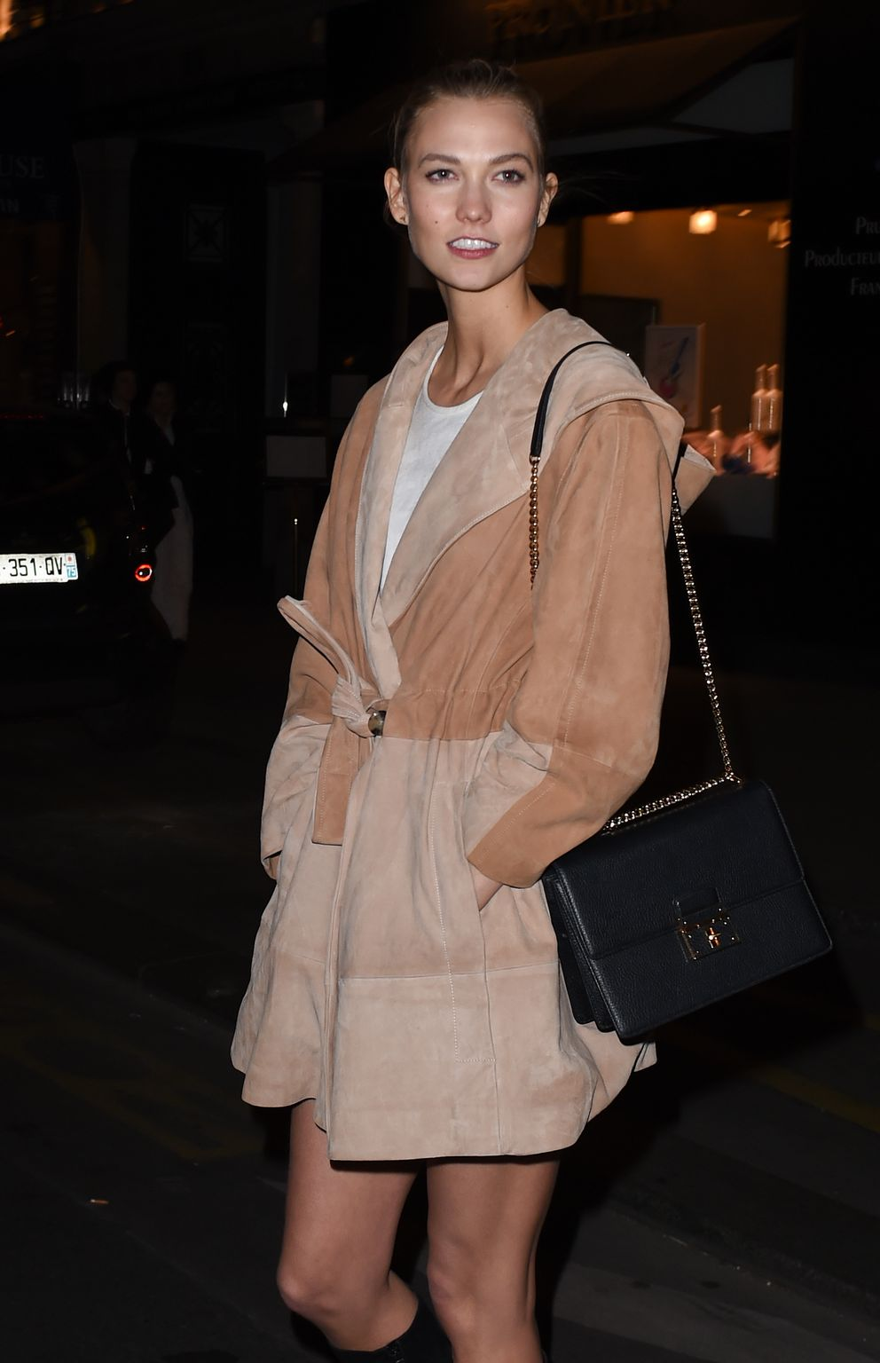 Karlie Kloss At Caviar Kaspia french restaurant – March 7