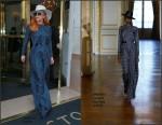 Lady Gaga In Martin Grant  in  Paris