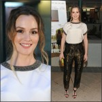 Leighton Meester In Etro  at  Los Angeles Opening Of 'Like Sunday, Like Rain'
