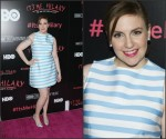 Lena Dunham In Tanya Taylor at  'It's Me, Hilary: The Man Who Drew Eloise' New York Screening