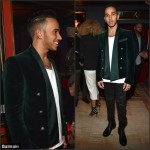 Lewis Hamilton  in Balmain Jacket – Balmain Fashion Week Dinner