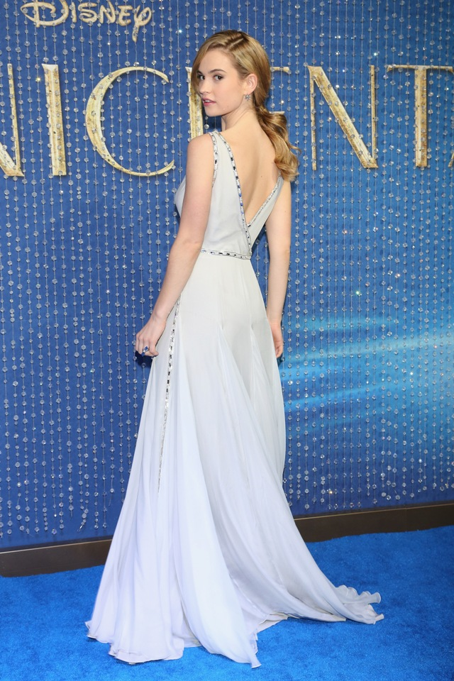 Lily James Cinderella Dresses Lily-james-in-prada-cinderella