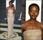 Lupita Nyong'o In Calvin Klein Collection  at the 2015 Vanity Fair Party