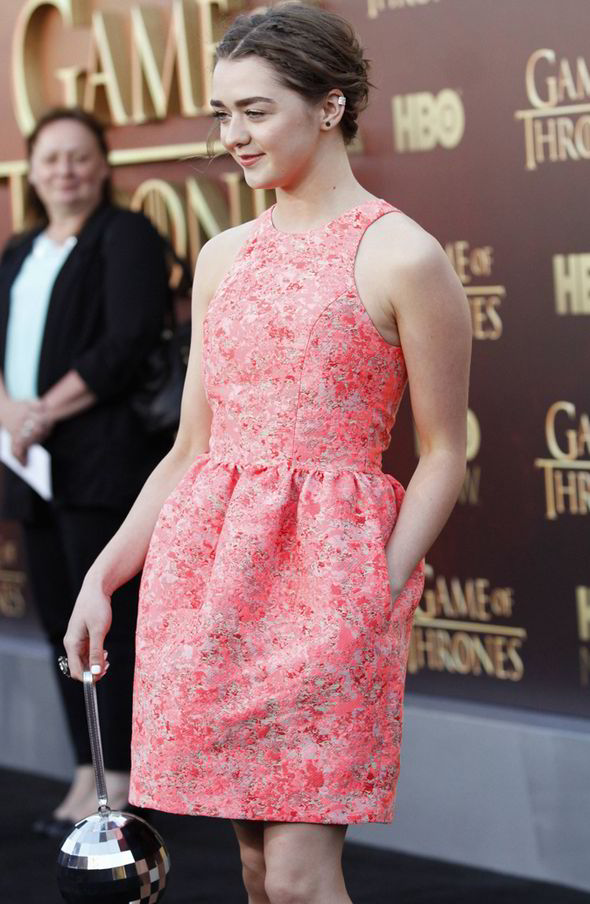 Maisie-Williams-In-Markus-Lupfer-at-Game-of-Thrones-Season-5-Premiere