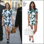 Maisie Williams In Kate Spade New York at Jimmy Kimmel Live