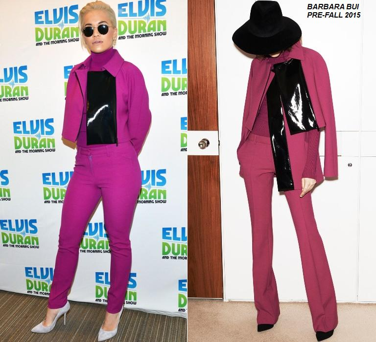 Rita-Ora-in-Barbara-Bui-at-The-Elvis-Duran-Z100-Morning-Show'