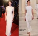 Shailene Woodley In Ralph Lauren Collection at  'Insurgent' World Premiere