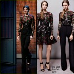 Shailene Woodley In Elie Saab at  Late Night with Seth Meyers