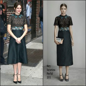 Shailene-Woodley-In-Mary-Katrantzou-Late-Show-With-David-Letterman