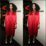 Solange Knowles in Prada at the Prada 'The Iconoclast' Cocktail Party