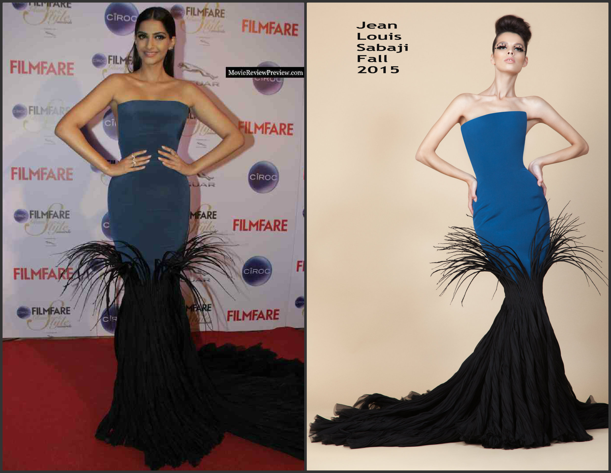 Sonam-Kapoor-in-Jean-Louis-Sabaji-at-the-2015-FilmfARE-Awards