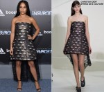 Zoe Kravitz In Christian Dior Couture at  'Insurgent' New York Premiere