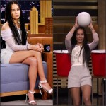 Zoe Kravitz In Balenciaga  at the The Tonight Show Starring Jimmy Fallon