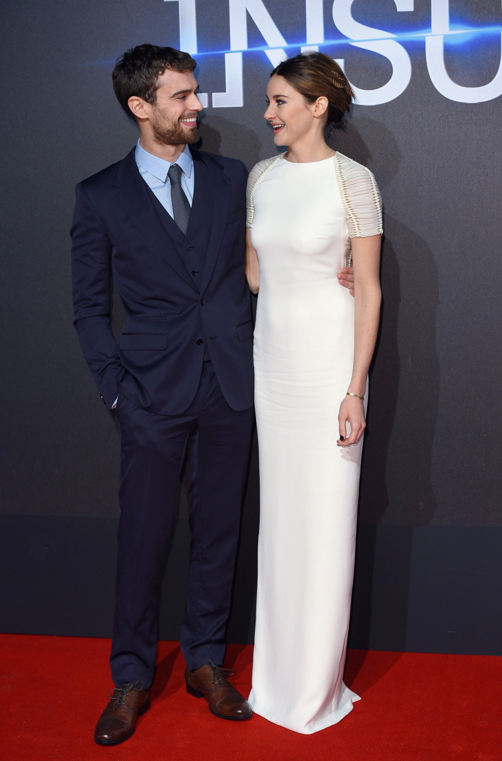 LONDON, ENGLAND - MARCH 11: Theo James and Shailene Woodley