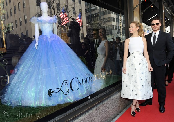 lily-james-in-christian-dior-saks-fifth-avenue-cinderella-window-unveiling