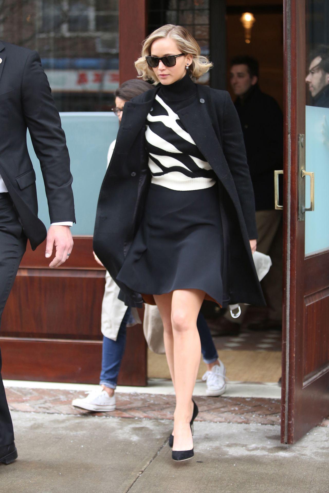 Jennifer-Lawrence-In- Christian- Dior- Couture-at-'Serena-Press -Junket