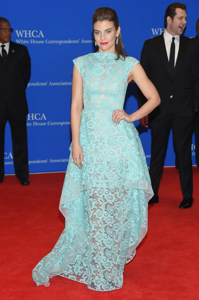 Lauren- Cohan- in -Christian Siriano -at- the -101st- White- House- Correspondents' -Association -Dinner