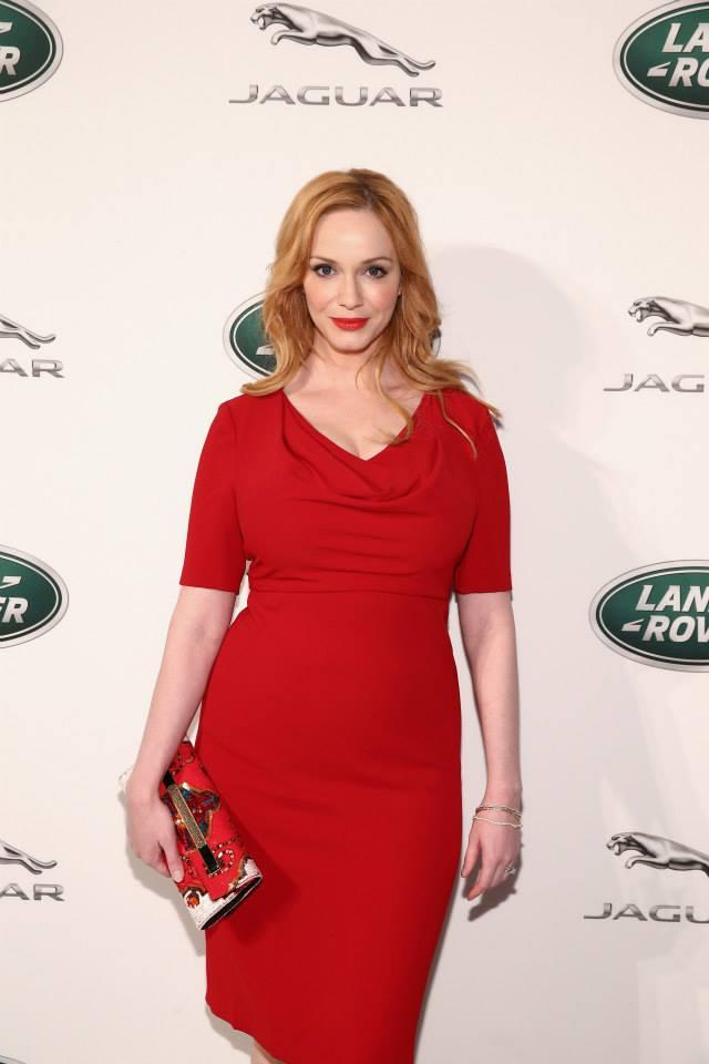 Christina-Hendricks-in-Black-Halo-at-the-Jaguar-Land-Rover-Exclusive-Reception