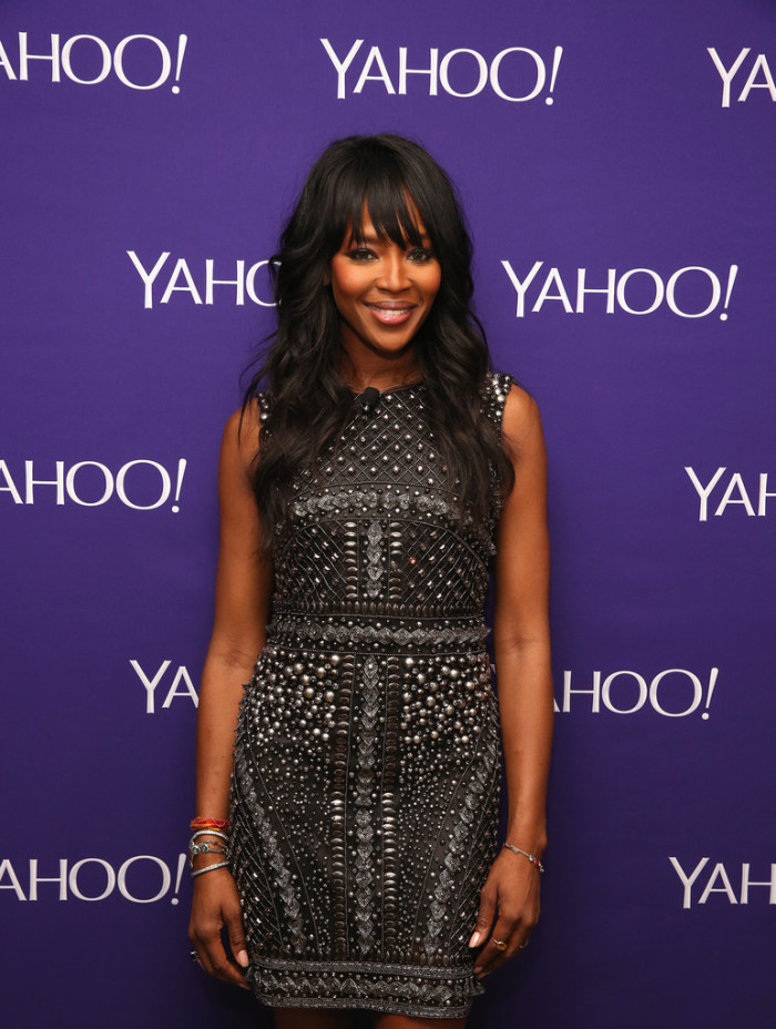 Naomi-Campbells-Yahoo-Upfronts-Alberta-Ferretti-Pre-Fall-2015-Black-Stone-Embellished-Black-Shift-
