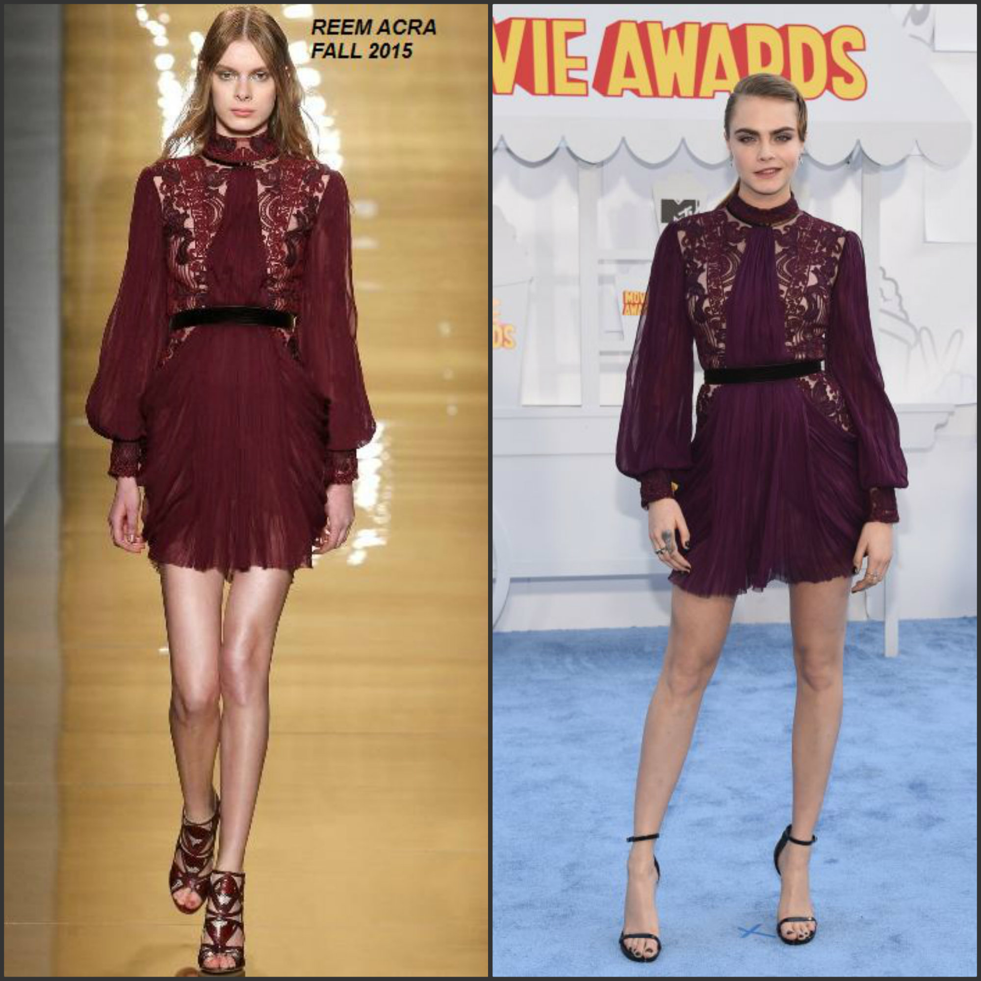 Cara-Delevinge-in-Reem-Acra- 2015-MTV-Movie-Awards