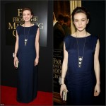 Carey Mulligan In Lanvin  at 'Far From The Madding Crowd' New York Screening