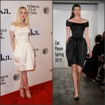 Dakota Fanning  in Zac Posen Franny Premiere in New York City