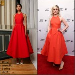 """Dianna Agron  in Rosie Assoulin at the Bare"""" Premiere  -2015 Tribeca Film Festival"""