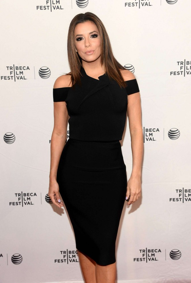Eva Longoria In Roland Mouret At Tribeca Talks Espn Sports Film Festival Go Sebastien Go Event