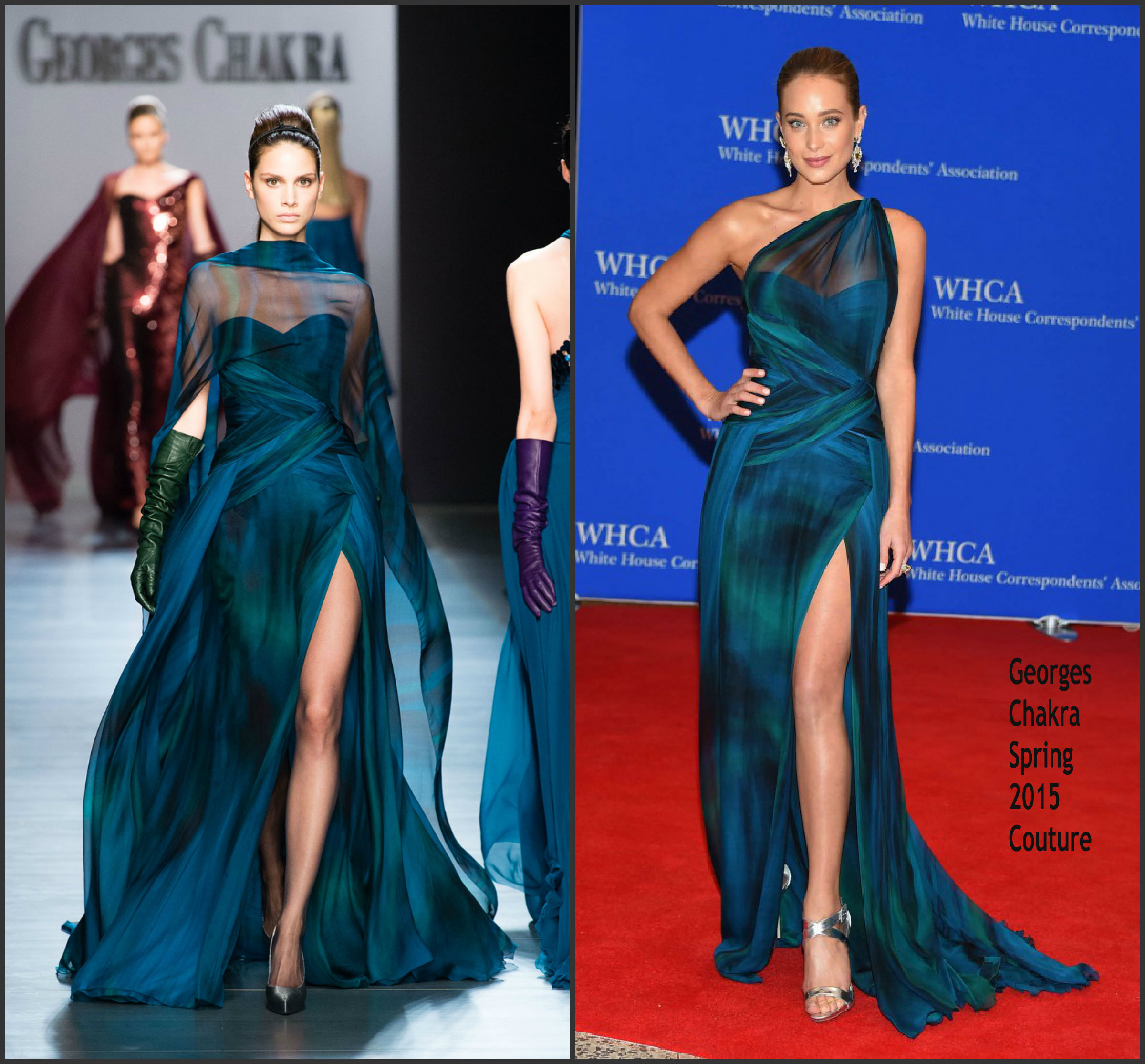 Hannah-Davis-in-Georges-Chakra-at-the-2015-White-House-Correspondents-Association-Dinner