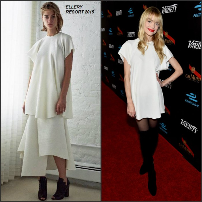 Jaime King in Ellery at the Variety & Formula E Hollywood Gala