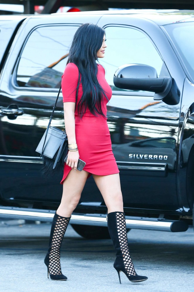 Kylie-Jenner-in-Red-Mini-Dress