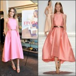 Louise Roe In Monique Lhuillier  at 'Front Roe: How To Be The Leading Lady In Your Own Life' Book Launch