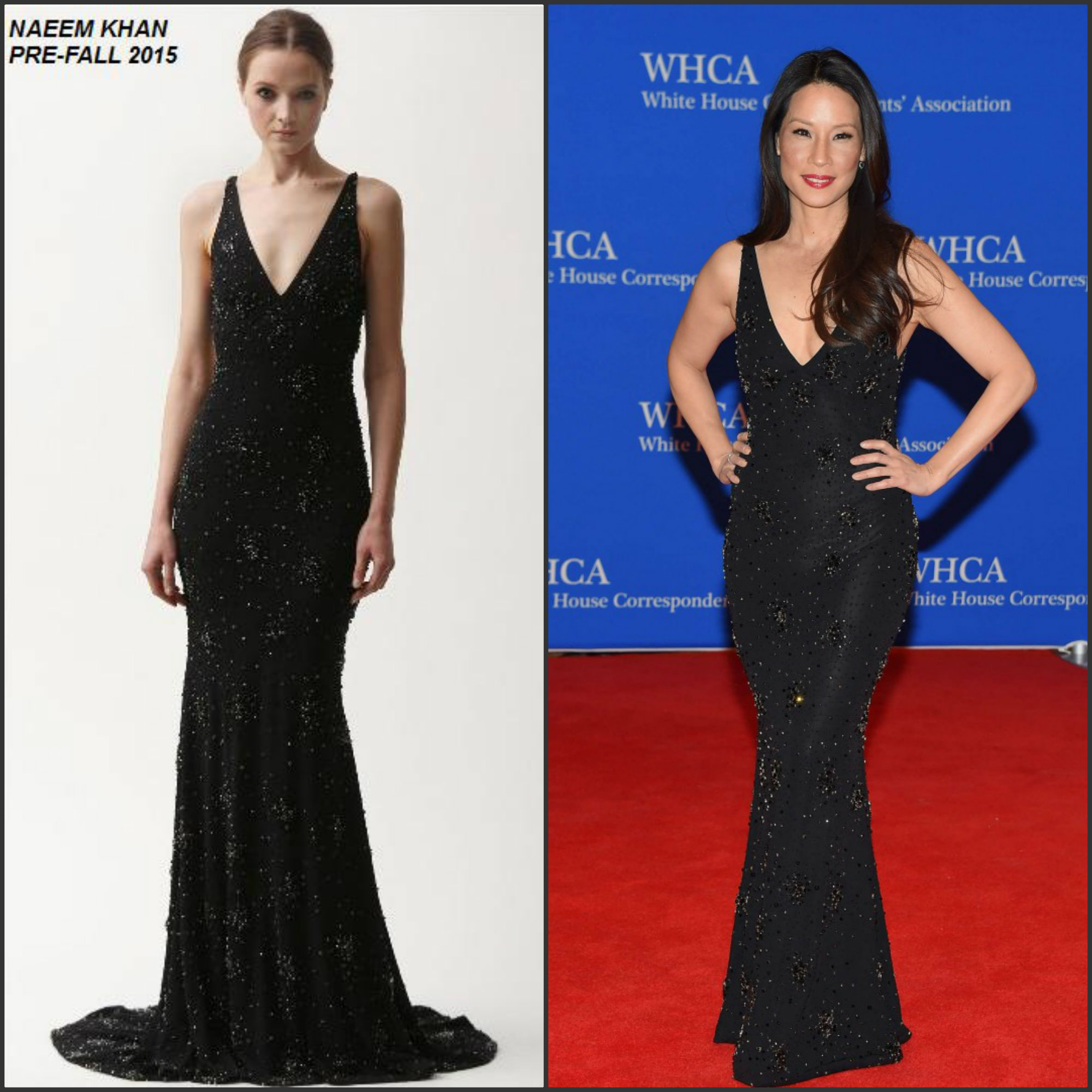 Lucy-Liu-in-Naeem-Khan-at-the-2015-White-House- Correspondents-Association-Dinner