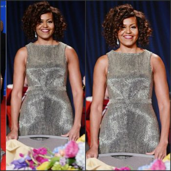 Michelle-Obama-in-Zav-Posen-at-the-2015-White-House-Correspondents-Association-Dinner