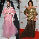 Noomi Rapace In Vivienne Westwood at  'Child 44' London Premiere