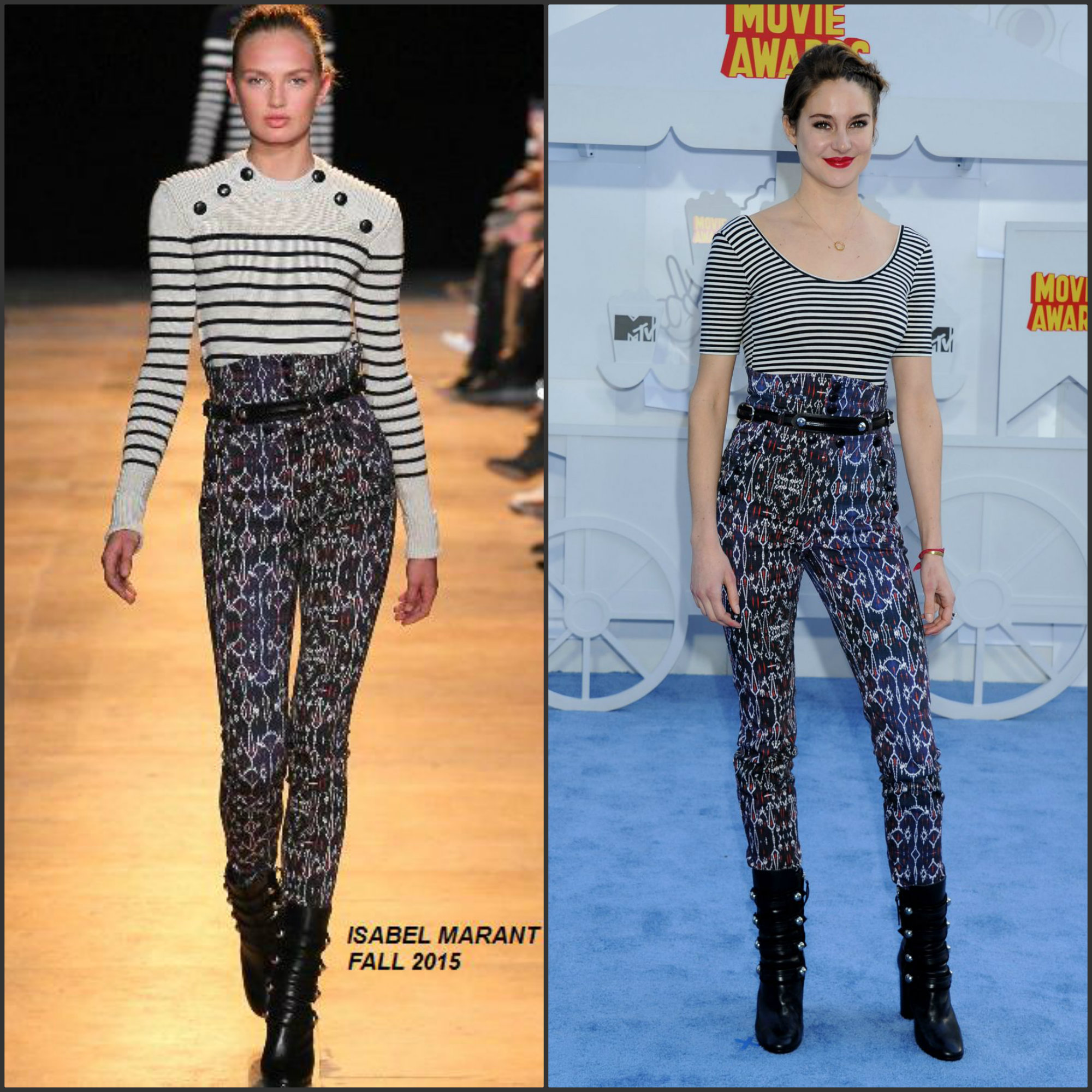 Shailene-Woodley-in Isabel-Marant-at-the-2015-MTV-Movie-Awards