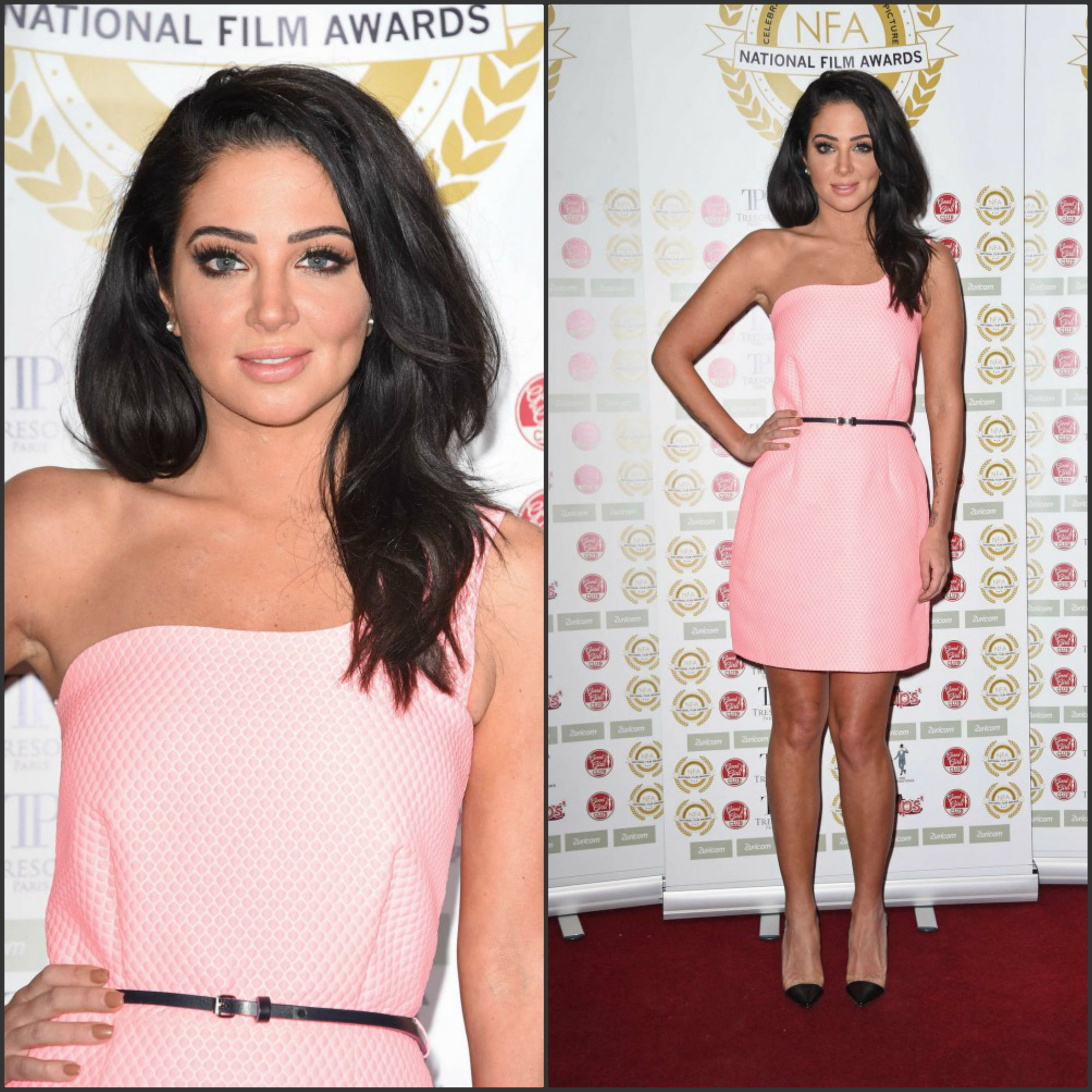 Tulisa-Contostavlos-in-victoria-beckham-at-the-2015-National-Film-Awards