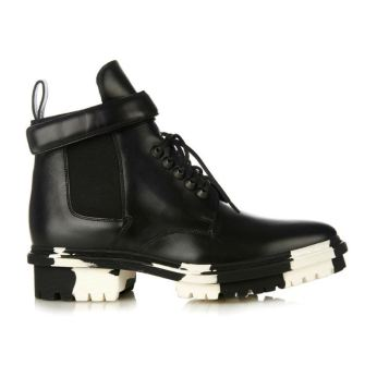 Balenciaga Unit ankle boots with white and black marbled sole
