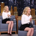 Elizabeth Olsen In Roland Mouret  – The Tonight Show Starring Jimmy Fallon