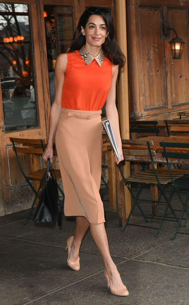 Amal Clooney In Gucci – Out In New York City