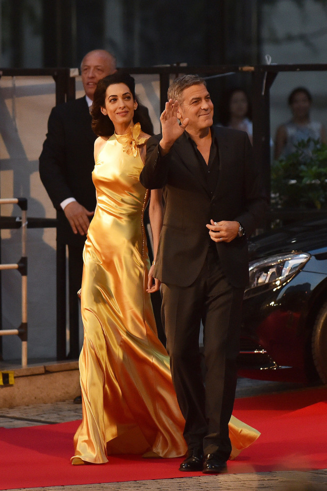 Amal-Clooneys-Tomorrowland-Tokyo-Premiere-Maison-Martin-Margiela-Gold-Silk-Satin-Bias-Cut-Dress-667x1000