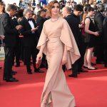 Clotilde Courau In Valentino Couture  at 'La Tete Haute' Cannes Film Festival Premiere & Opening Ceremony