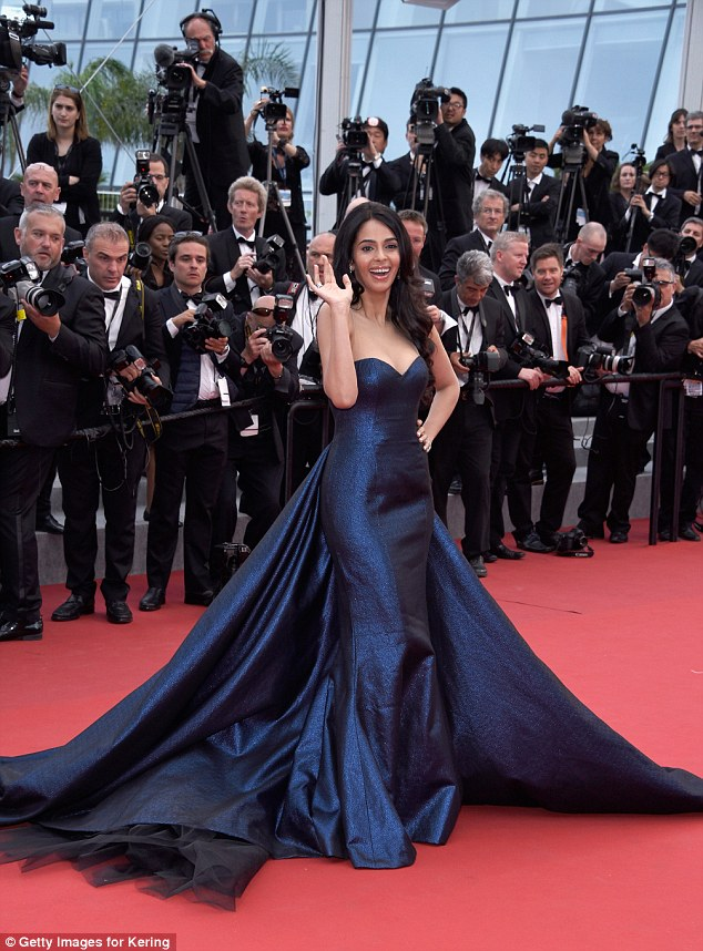 "Mallika- Sherawat- the -""Macbeth"" Premiere -during -the- 68th- annual -Cannes- Film- Festival"
