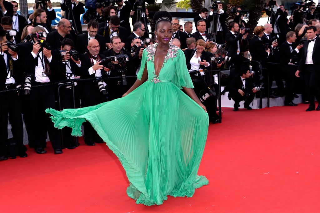 """Lupita -Nyong'o -in -Gucci- at -the- """"Standing -Tall- 68th- Cannes- Film- Festival -Premiere - Opening -Ceremony-"""