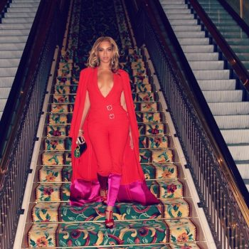 9-Beyoncés-Mayweather-vs.-Pacquiao-Fight-Red-Caped-Jewel-Embellished-Jumpsuit