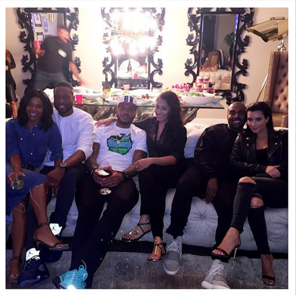 Gabrielle-Union-and-Dwyane-Wade-Carmelo-Anthony-and-Lala-Kanye-West-and-Kim-Kardashian-watching-Mayweather-vs-Pacquiao-fight-party