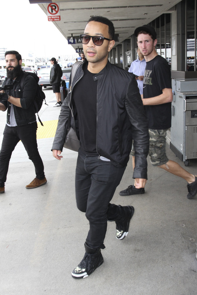 John-Legend--at-LAX-airport-in-all-black-GIVENCHY-TYSON-FLORAL-PRINT-LEATHER-HIGH-TOP-SNEAKERS.