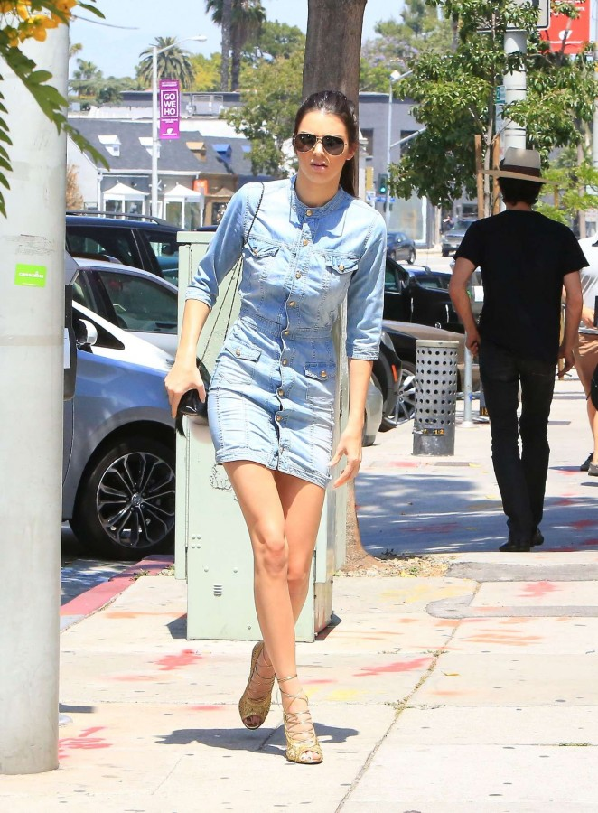 Kendall Jenner in Mini Dress Out and about in LA